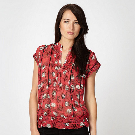 J by Jasper Conran - Designer red clustered butterfly top
