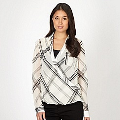 J by Jasper Conran - Designer ivory checked blouse