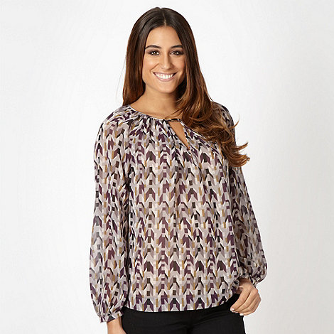 J by Jasper Conran - Designer dark purple chevron shell top