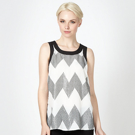 J by Jasper Conran - Designer white zig zag shell top