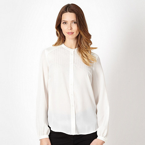 J by Jasper Conran - Designer ivory pintuck shoulder blouse