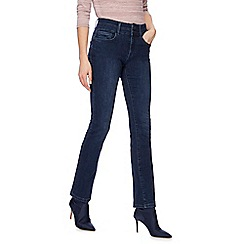 J by Jasper Conran - Mid blue 'Shape and Lift' high-waisted straight leg jeans