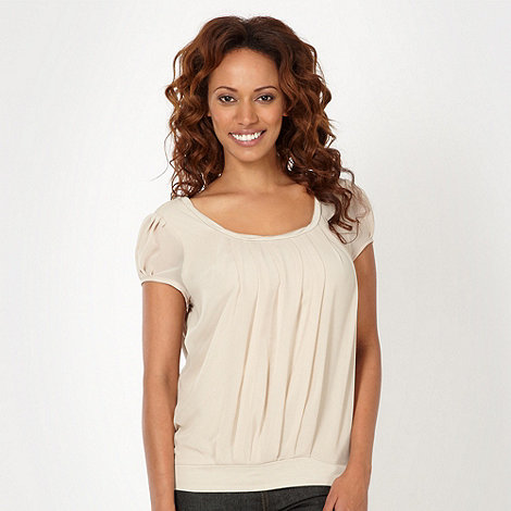 J by Jasper Conran - Designer natural pleat front jersey top