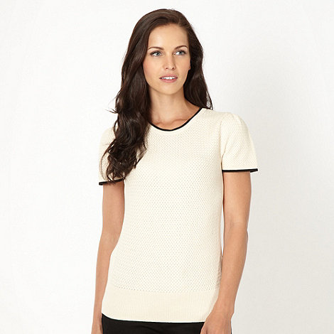 J by Jasper Conran - Designer natural textured tipped top