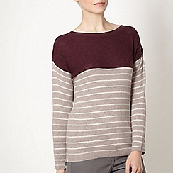 J by Jasper Conran - Designer wine colour block striped jumper