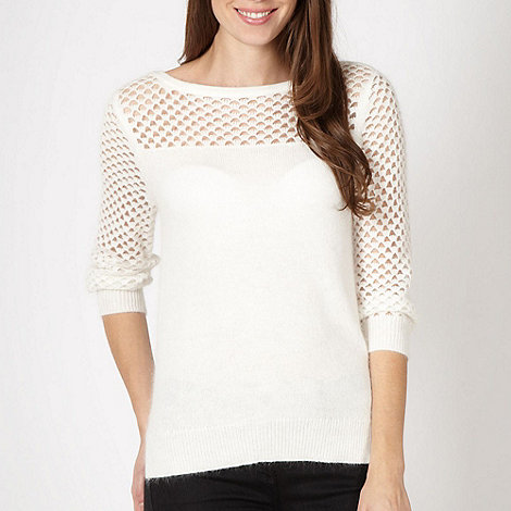 J by Jasper Conran - Designer white cut out jumper