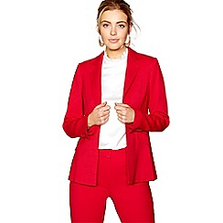 J by Jasper Conran - Red luxury wool crepe blazer