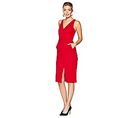 J by Jasper Conran - Red V-neck pencil dress