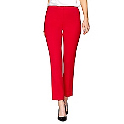 J by Jasper Conran - Red crepe straight leg trousers