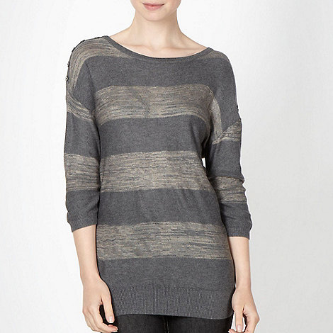 J by Jasper Conran - Designer grey space dye jumper