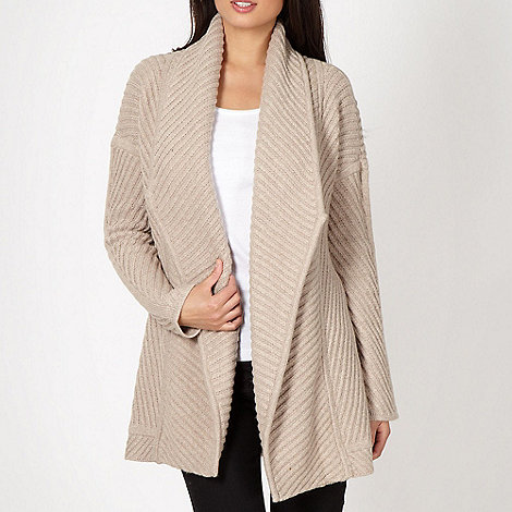 J by Jasper Conran - Designer natural ribbed panel cardigan