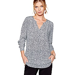 J by Jasper Conran - Black long sleeves dot print blouse