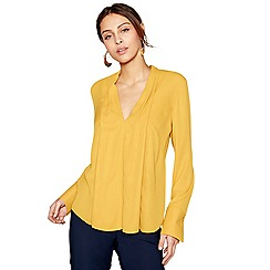 J by Jasper Conran - Mustard long sleeves V-neck top