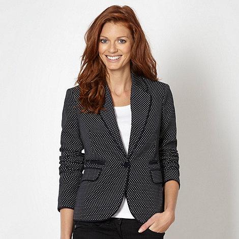 J by Jasper Conran - Designer navy spotted blazer