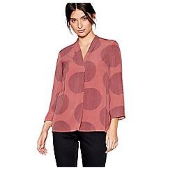 J by Jasper Conran - Pink long sleeves spot print top
