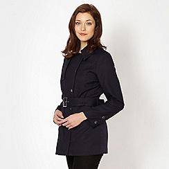 J by Jasper Conran - Designer navy short cotton trench coat