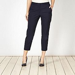 J by Jasper Conran - Designer navy straight leg cropped trousers