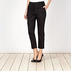 J by Jasper Conran - Designer black sateen trousers