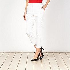 J by Jasper Conran - Designer white sateen trousers