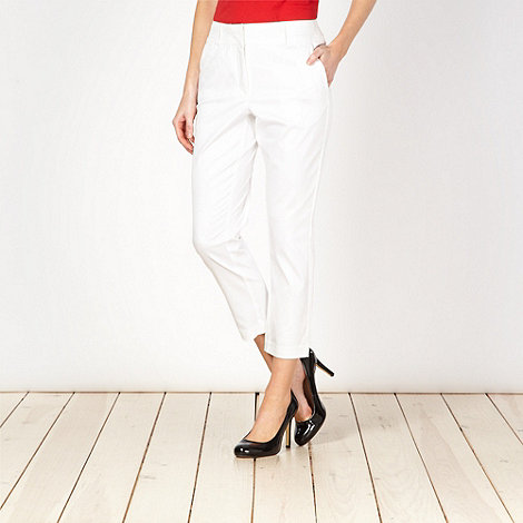J by Jasper Conran - Designer white sateen trousers
