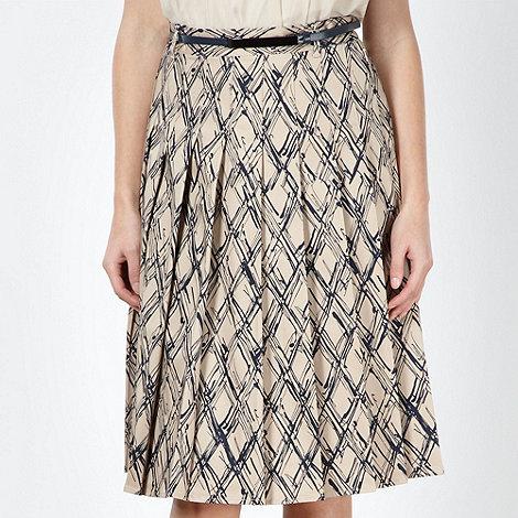 J by Jasper Conran - Designer beige pleated lattice skirt