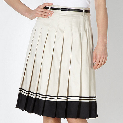 J by Jasper Conran - Designer natural border hem skirt
