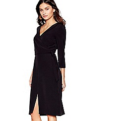 J by Jasper Conran - Black v-neck wrap dress