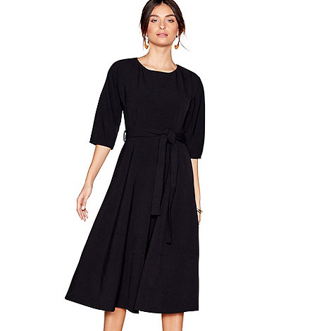 J by Jasper Conran - Designer black V neck jersey dress