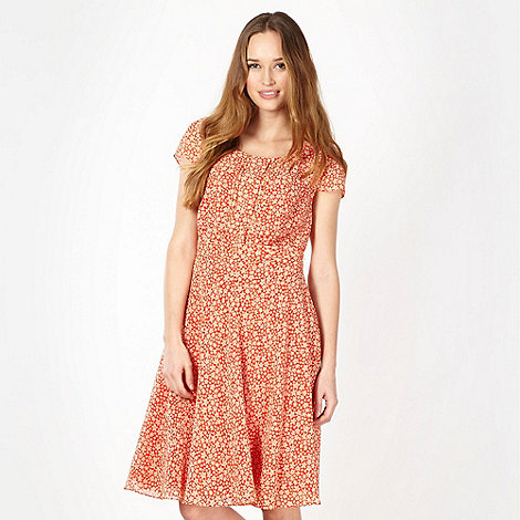 J by Jasper Conran - Designer orange floral tea dress