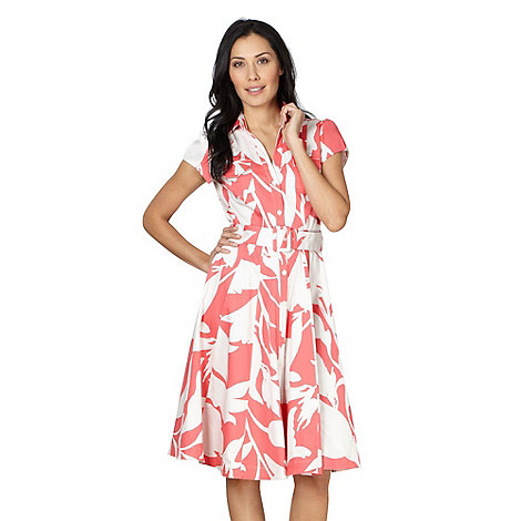 J by Jasper Conran - Designer pink floral shirt dress