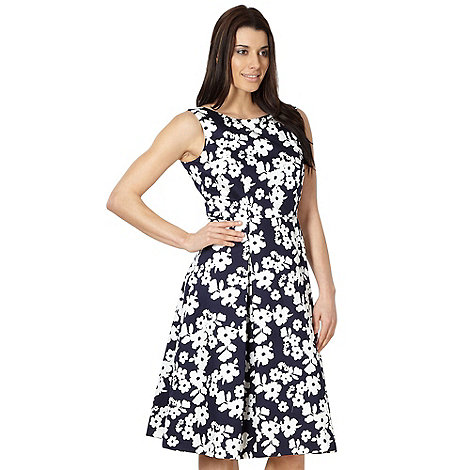 J by Jasper Conran - Designer navy daisy print dress