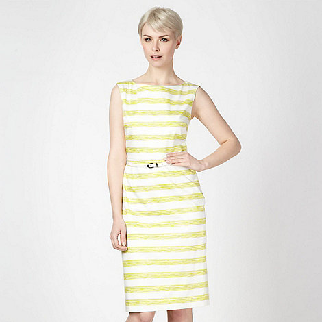 J by Jasper Conran - Designer lime striped shift dress