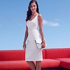J by Jasper Conran - Designer white textured shift dress