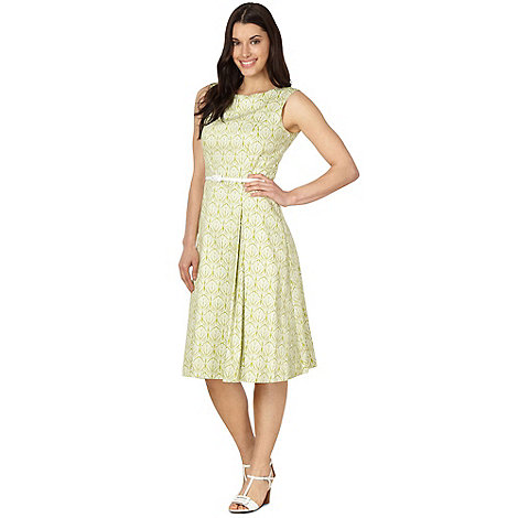 J by Jasper Conran - Designer green leaf print dress