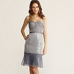 J by Jasper Conran - Grey sequin Grecian style dress