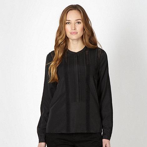 J by Jasper Conran - Designer black lace insert blouse