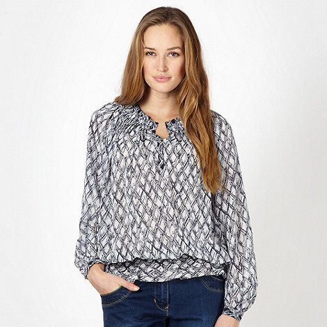 J by Jasper Conran - Designer navy chiffon embellished blouse