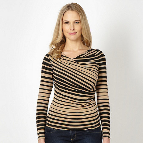 J by Jasper Conran - Designer black striped cowl neck top