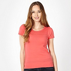 J by Jasper Conran - Designer pink crochet textured top