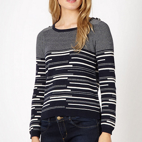 J by Jasper Conran - Designer navy striped jumper