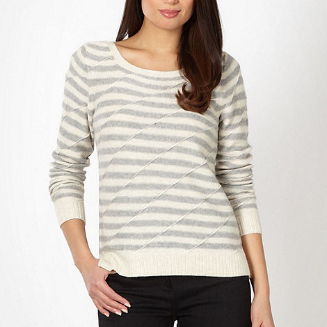 J by Jasper Conran - Designer ivory striped textured jumper
