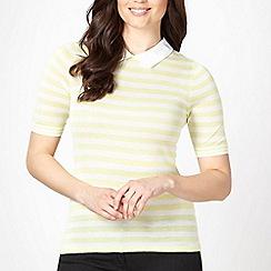 J by Jasper Conran - Designer yellow striped collared jumper