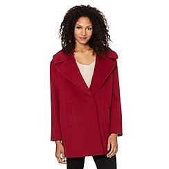 J by Jasper Conran - Designer dark pink cocoon coat