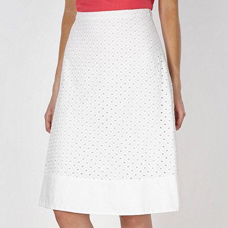 J by Jasper Conran - Designer white broderie skirt