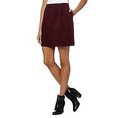 J by Jasper Conran - Designer purple textured tulip skirt