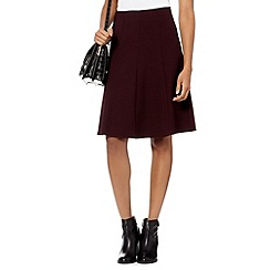 J by Jasper Conran - Designer purple textured panel skirt