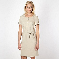 J by Jasper Conran - Designer beige linen blend dress