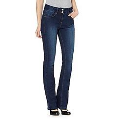 J by Jasper Conran - Designer mid blue shape enhancing bootcut jeans