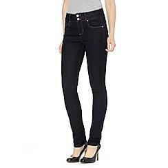 J by Jasper Conran - Designer dark blue shape enhancing high waisted skinny jeans
