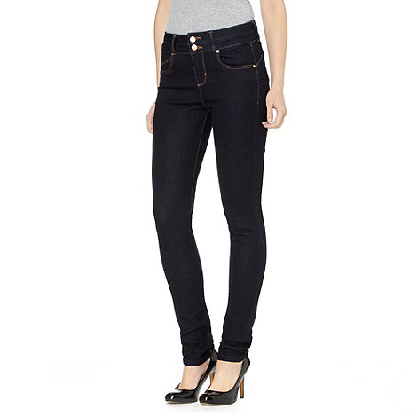 J by Jasper Conran - Designer dark blue shape enhancing high waisted skinny jeans